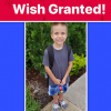 HE LOST HIS DAD WHEN HE WAS JUST 9 MONTHS OLD. TODAY HE IS OUR WISH RECIPIENT
