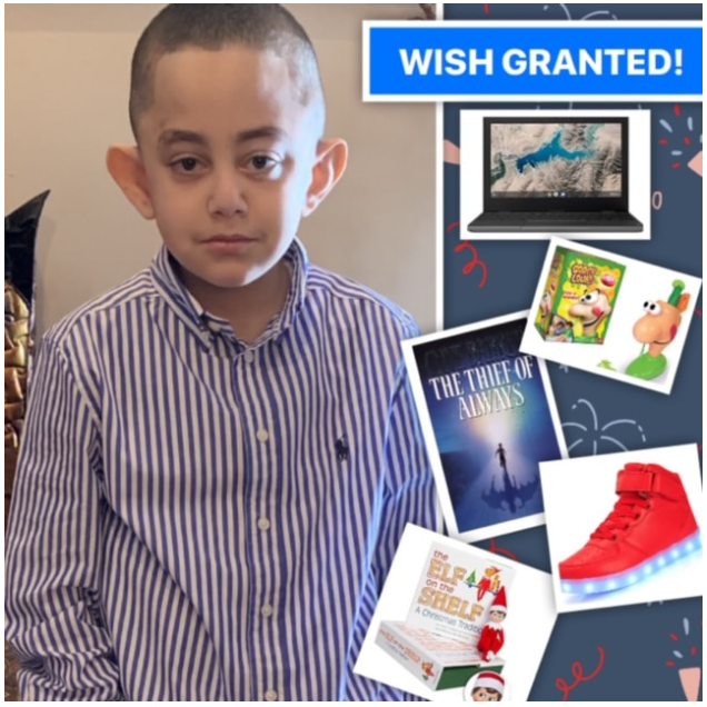 WISH GRANTED FOR ST. CHRIS HOSPITAL PATIENT WHO IS ALL PERSONALITY. MEET SADALLAH.