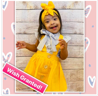 WISH GRANTED FOR LITTLE RAY OF SUNSHINE WITH DOWN SYNDROME TO GIVE HER ACCESS TO LEARNING