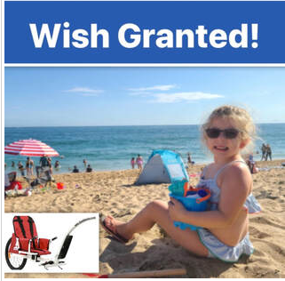 WISH GRANTED FOR LITTLE GIRL WITH BIRTH DEFECTS SO SHE CAN ENJOY A LITTLE WIND IN HER HAIR
