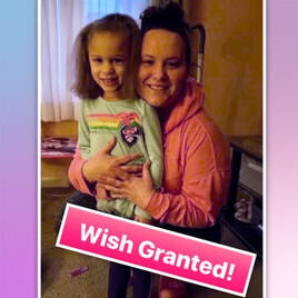 WISH GRANTED FOR ESSENTIAL WORKER/SINGLE MOM. WE PAID WEEKS OF DAYCARE FOR HER DAUGHTER
