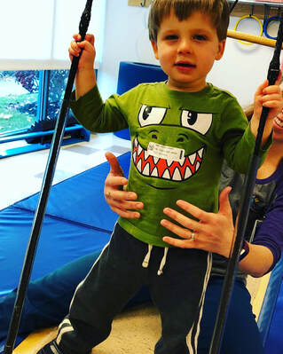 Indoor Swing For Boy With Rett's Syndrome