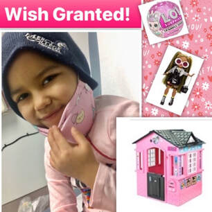 TINY CANCER PATIENT GETS THE PLAYHOUSE SHE ALWAYS DREAMED OF