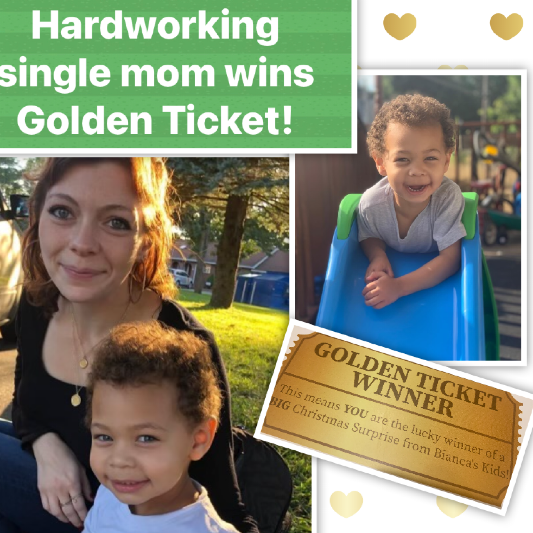 HARDWORKING SINGLE MOM IS OUR NEXT GOLDEN TICKET WINNER!