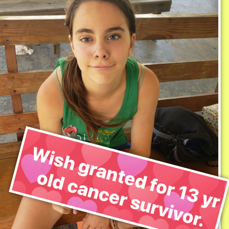 🌟WISH GRANTED TO 13 YR OLD CANCER SURVIVOR STRUGGLING WITH VISION. Meet Liliana. 🌟