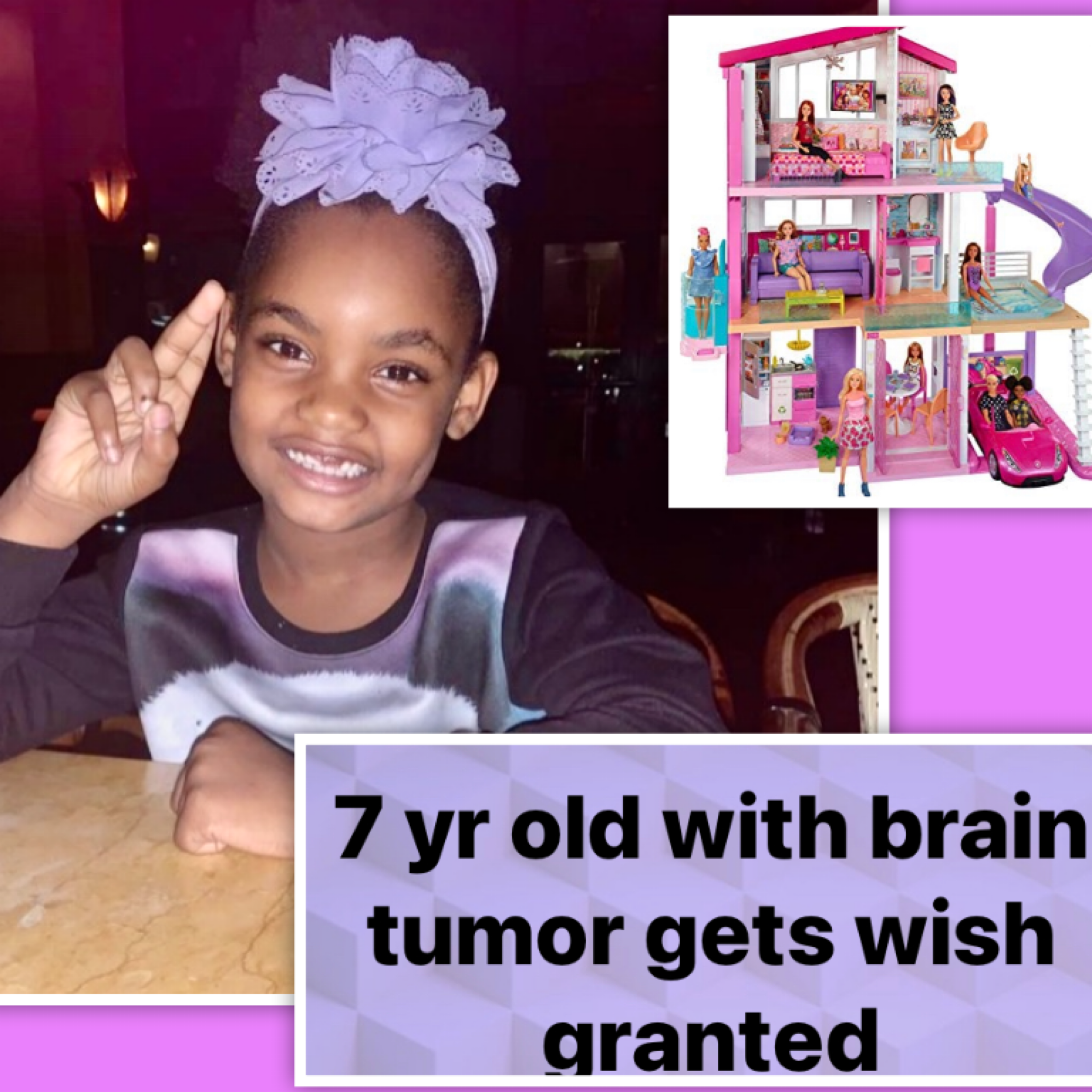 💕Precious 7-year-old girl battling brain tumor gets the one thing she's been wishing for. Meet Zachyra.💕