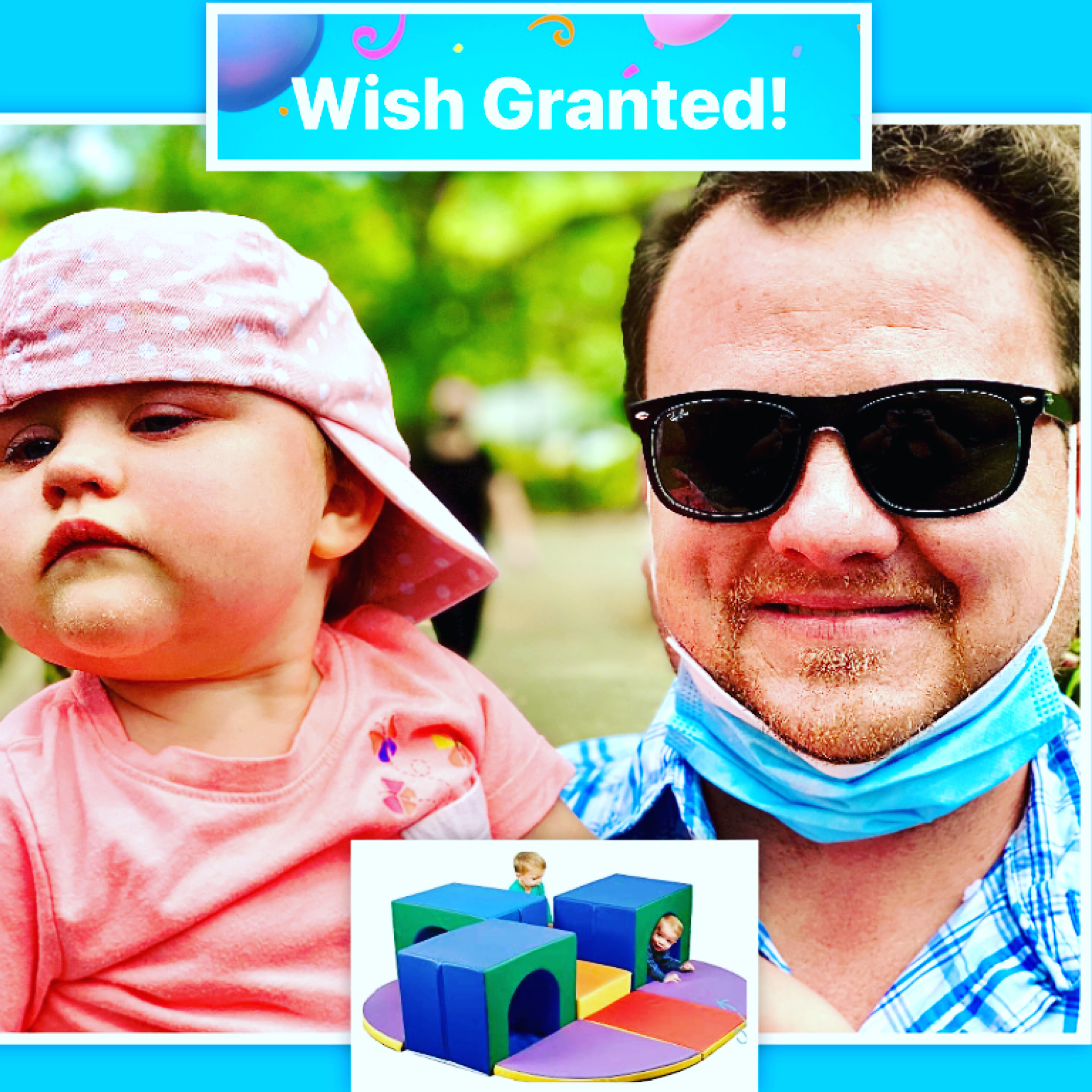 WANTED for loving daddy for his baby girl so she could play and exercise safely. Meet Daniel & Avery. ⭐️
