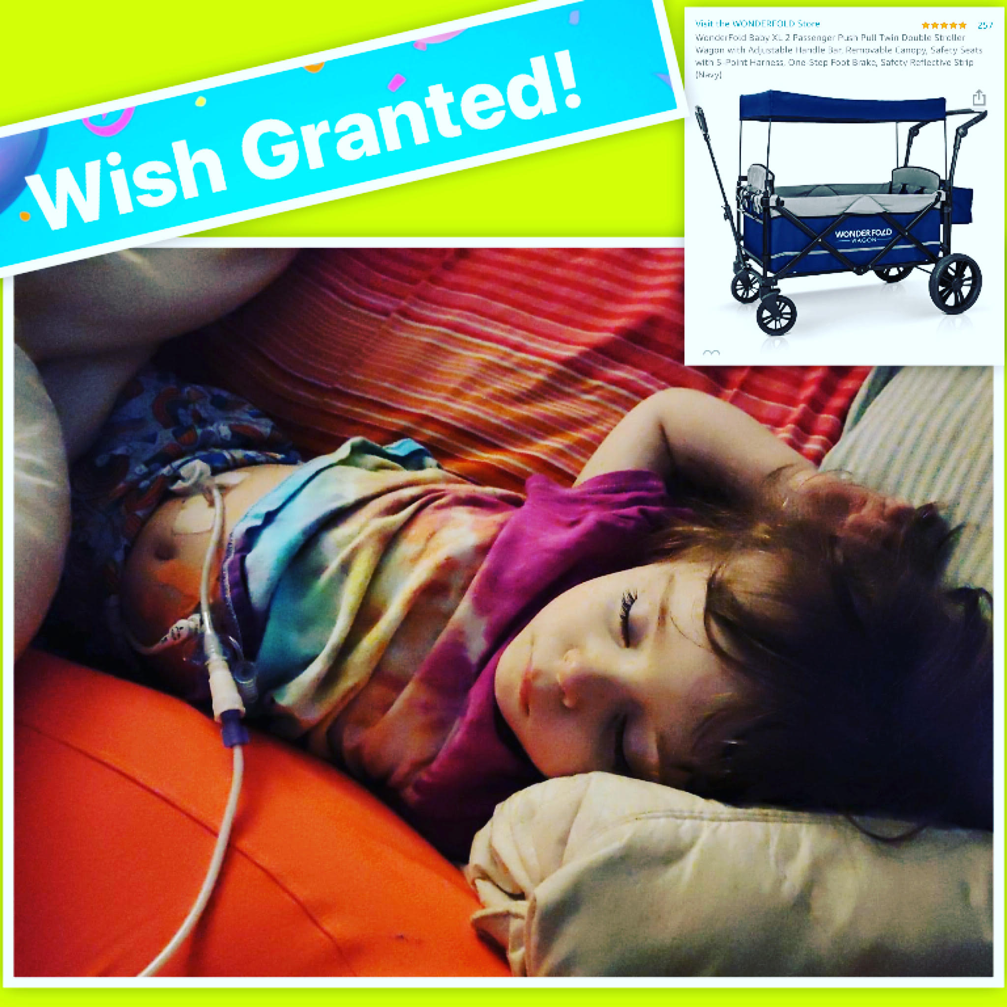 WISH GRANTED for nonverbal child with Cerebral Palsy so she can experience the outdoors for the very first time.